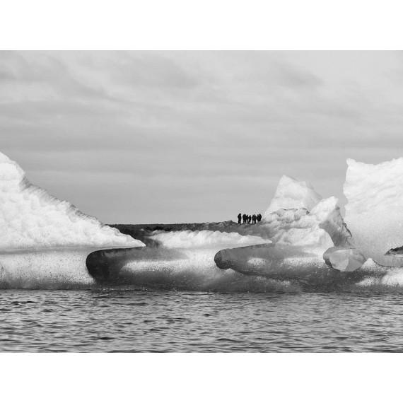 Spitzbergen Svalbard. Monochrom Bildband von Nadine Hugo