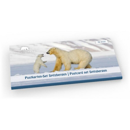 Limited edition postcard set Spitsbergen (Svalbard): Cover.