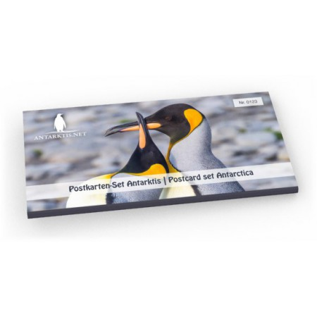 Limited edition postcard set Antarctic: tray, showing King penguins on South Georgia.
