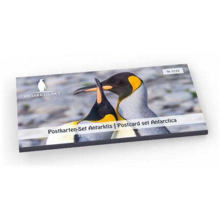 Sett med postkort for Antarktis