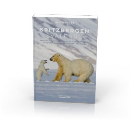 Spitzbergen-Svalbard: Spitsbergen-guidebook (German). Cover.