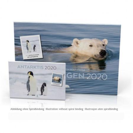 Erstmalig ist unser bisheriger Spitzbergen-Kalender ein Doppelkalender: die monatlichen Kalenderblätter sind nun doppelseitig