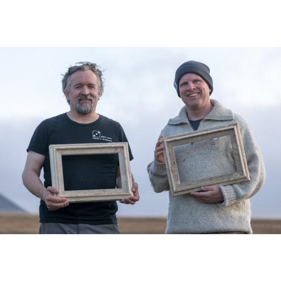Bilderrahmen aus Spitzbergen-Treibholz 2019