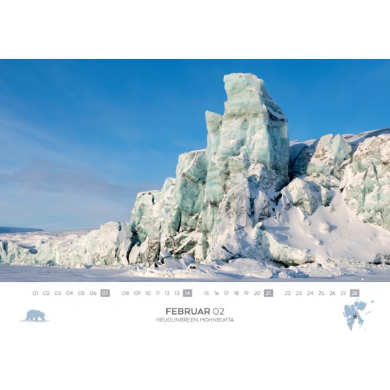 Double calendar 2021: Spitsbergen and Antarctica
