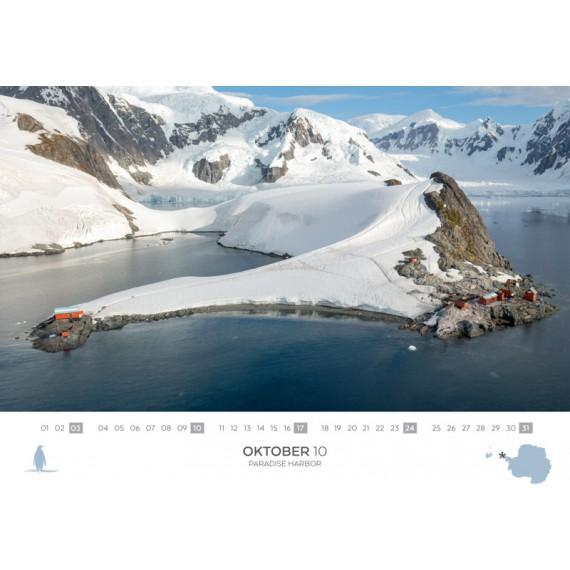 Doppelkalender 2021: Spitzbergen und Antarktis