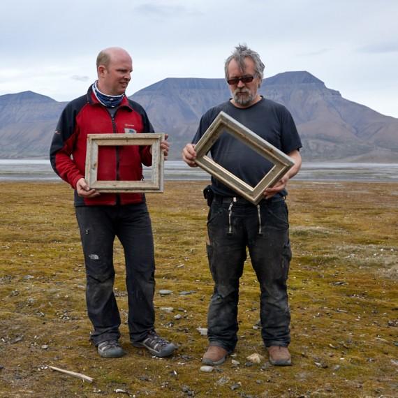 Bilderrahmen aus Spitzbergen-Treibholz 2020